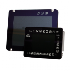 EKE Trainnet® 6.5 and 12.1 full touch HMIs Front